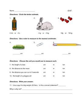 Measurement Quiz