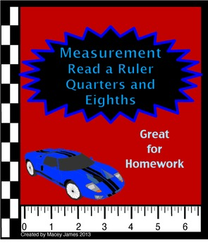 Measurement: Read a Ruler in Quarters and Eighths