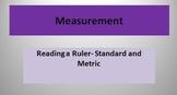Measurement Reading a Ruler