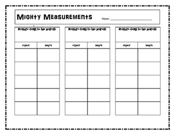 Measurement Record Sheet