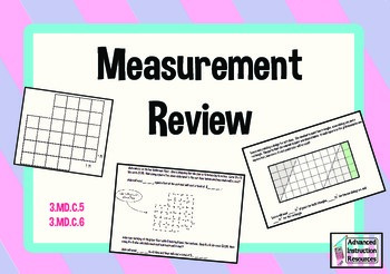 Measurement Review - 3.MD.C5 and 3.MD.C6