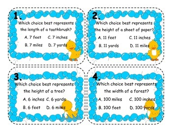 Measurement Review Cards