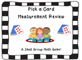 Measurement Review Pick a Card Game (customary and metric)-CCSS Aligned
