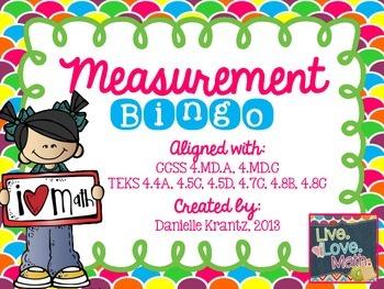 Measurement Review BINGO