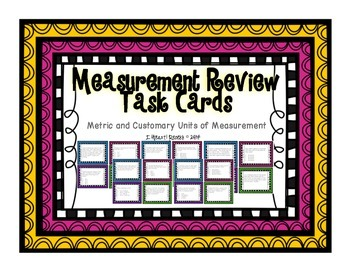 Measurement Review Task Cards 4.MD