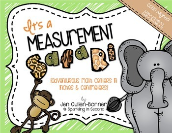 Measurement {measuring in half-inches, inches, & centimeters}