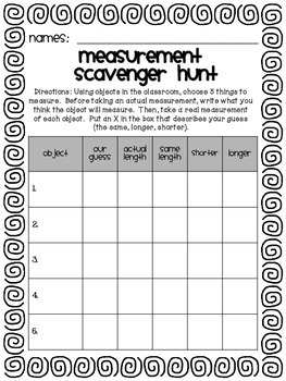 Measurement Scavenger Hunt