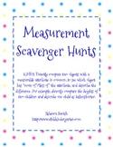 Measurement Scavenger Hunts - Common Core!