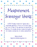 Measurement Scavenger Hunts - Common Core!