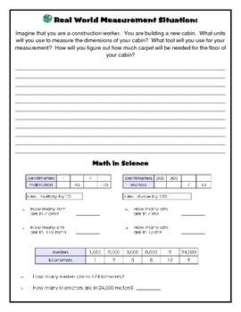 Measurement Booklet (Common Core Aligned)