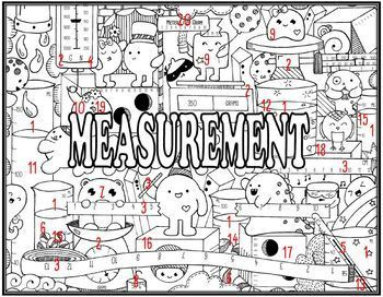 Measurement Seek and Find Science Doodle Page