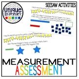 First Grade Measurement Seesaw Assessment