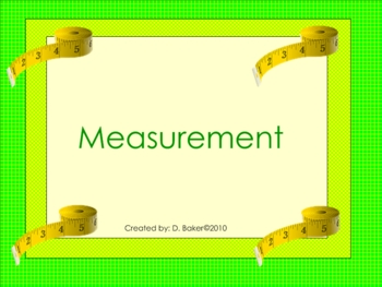 Measurement Smartboard Lesson