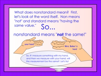 Measurement Smartboard Lesson on Nonstandard Units