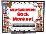 Measurement Sock Monkeys Smart Board Game (CCSS.2.NBT.MD.2)