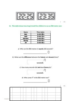 Measurement:  Solving Problems Involving Units of Time