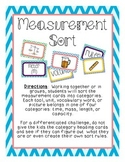 Measurement Sort- 3rd Grade