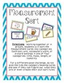 Measurement Sort- 3rd Grade
