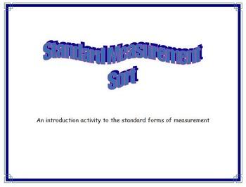 Measurement Sort - Customary Unit