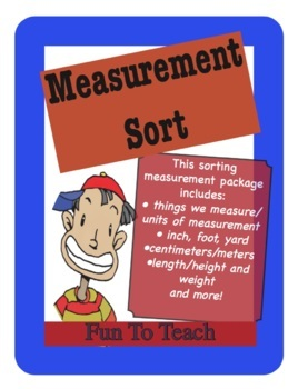 Measurement Sort - inches and centimeters