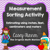Measurement Sorting Activity {Inches, Feet, Centimeters & Meters}