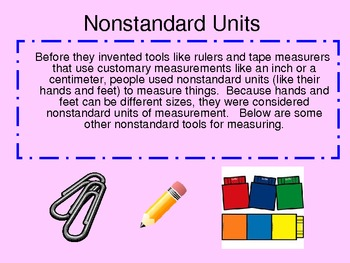 Measurement, Standard and Non-Standard Power Point Presentation