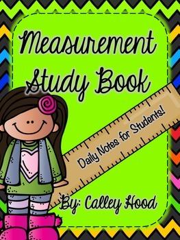 Georgia Milestones Common Core Review Math Measurement Study Booklet/Notes
