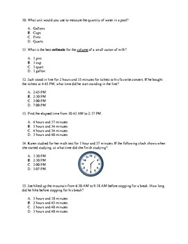 Measurement Study Guide