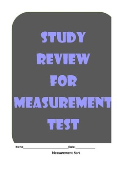 Measurement Study Review Study Guide