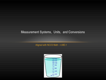 Measurement Systems,  Units,  and Conversions Presentation - 4.MD.1