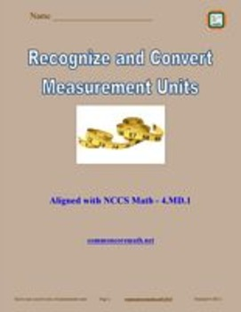Measurement Systems, Units, and Conversions Full Lesson Bundle - 4.MD.1