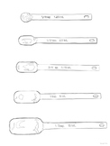 Measuring Spoons Worksheet (FCS, Culinary, Hospitality, Food)
