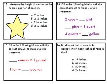 Measurement Task Card BUNDLE