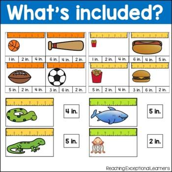 Measurement Task Card Set- Special Education