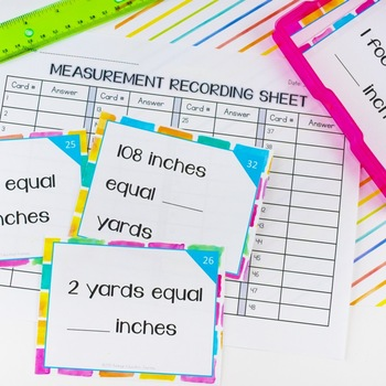 Measurement Task Cards - Practice Linear Measurement & Reading a Ruler