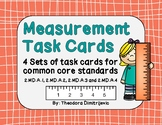 Measurement Task Cards (2.MD.A.1, 2.MD.A.2, 2.MD.A.3, 2.MD.A.4)*With Answer Key!