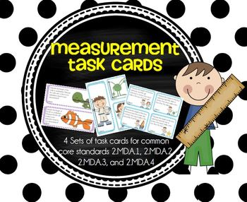 Measurement Task Cards (2.MD.A.1-2.MD.A.4)