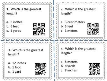 Measurement Task Cards 4 (QR Codes)