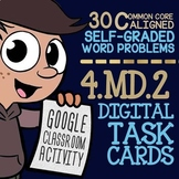 4.MD.2 Task Cards ★ Measurement Word Problems ★ Self-Graded Google Classroom