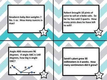 Measurement Task Cards-4th grade common core