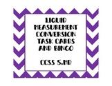 Measurement Task Cards AND Bingo! -floz, cups, pints, quar
