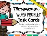 Comparison Measurement Word Problem- Task Cards