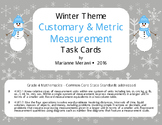 Winter Measurement Task Cards-Customary & Metric-4th Grade