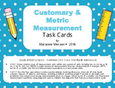 Measurement Task Cards-Customary & Metric-4th Grade Math {