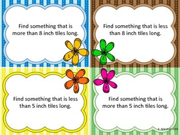 Measurement Task Cards Freebie!