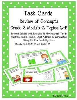 Measurement Task Cards Grade 3 NYS Module 2 (part 2)