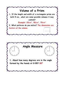 Measurement Task Cards-Metric and Customary