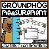 Measurement Task Cards Groundhog Theme