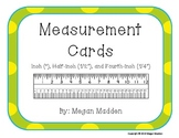 Measurement Task Cards - Inch, 1/2 Inch, 1/4 Inch