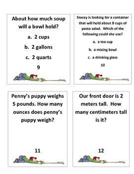 Measurement Task Cards (Length, Weight, Mass, Capacity, and Elapsed Time)